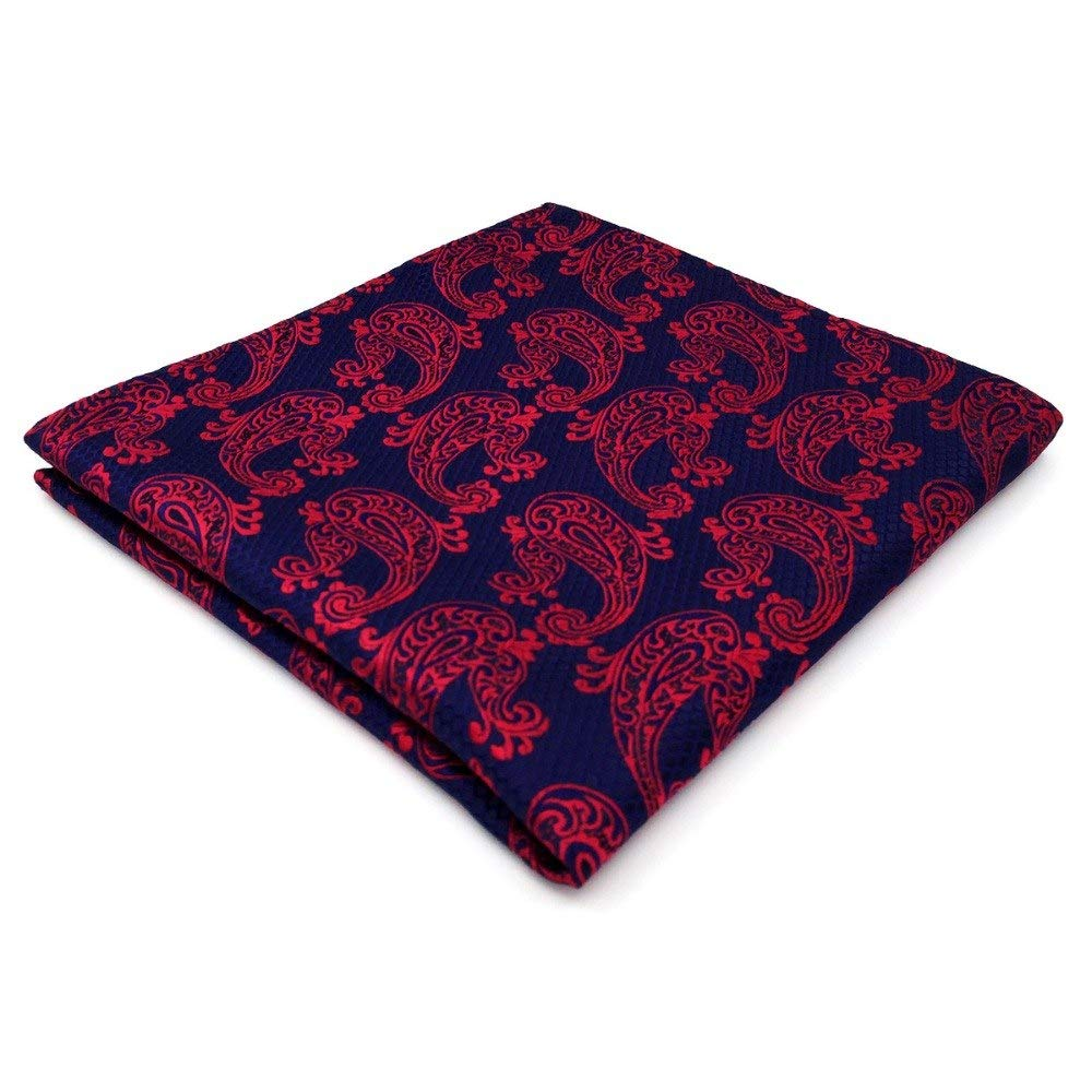 Shlax& Wing Mens Pocket Square Paisley Blue Fuchsia Hanky Handkerchief MH15