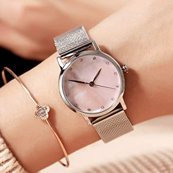 LKTGBRCVZJU Relojes Marea Reloj de Mujer a Prueba de Agua Mujeres de Moda 2018 Reloj pequeño