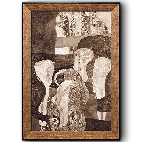 Jurisprudence by Gustav Klimt Framed Art
