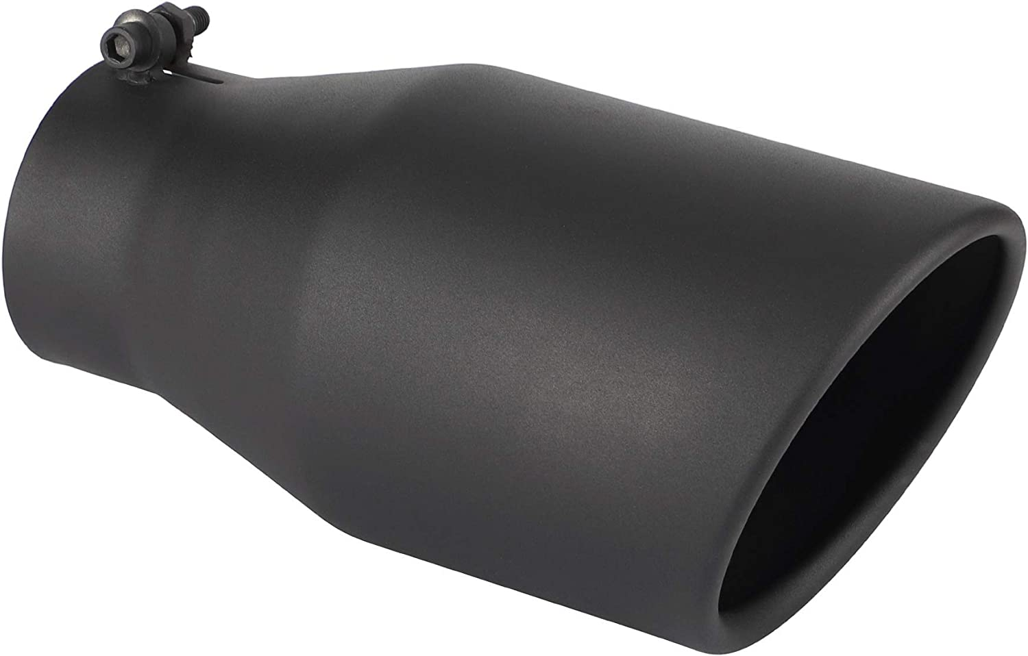 3 Inch Black Exhaust Tip Richeer Universal 3 Inside Diameter Diesel Exhaust Tailpipe Tip 3 x 4.5 x 9 Clamp On Design with Ball End L Wrench