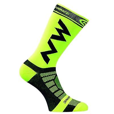 Transpirable Hombres Adultos Compresión Calcetines Largos Calcetines de fútbol Calientes Baloncesto Deportes Antideslizante Ciclismo Escalada Calcetines para Correr (Verde): Deportes y aire libre
