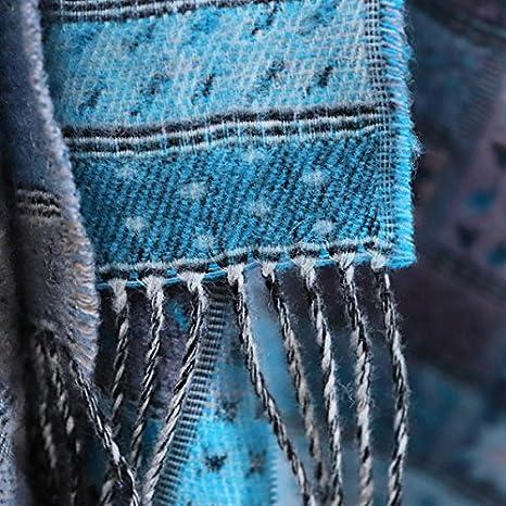 130 x 190 cm Hecho en Lituania WoolMe Manta de Lana Merino Gris Azulado Marta