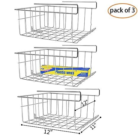 Amazon.com: Monpearl - Cesta para debajo de estantes ...