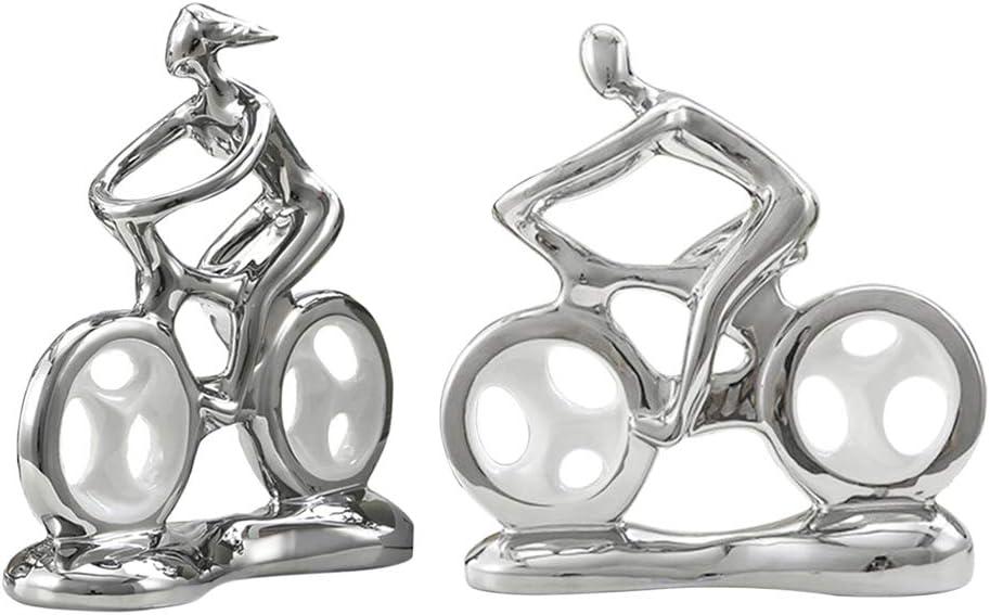 FLAMEER 2 Piezas Adorno de Estatuilla de Bicicleta de Pareja para ...
