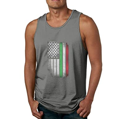549ed091132b10 Amazon.com  Z-YY Men s Tank Top Vintage Italy Flag Sleeveless Shirt Cotton  Tee for Summer  Clothing