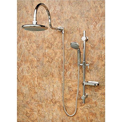 System Fixture (PULSE ShowerSpas 1019 Chrome Shower System - Aqua Rain ShowerSpa)
