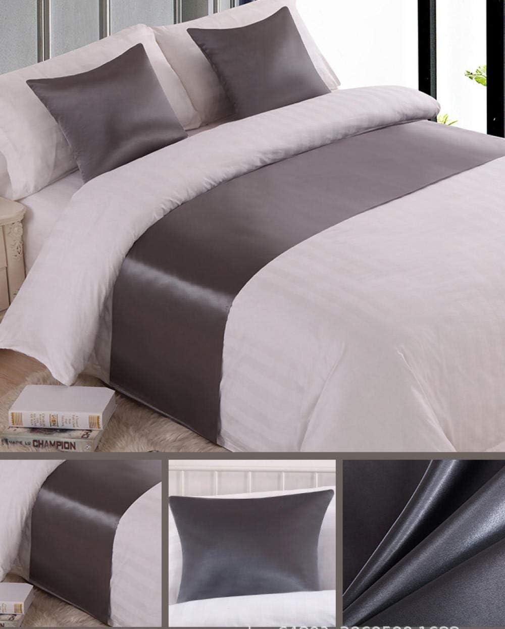 SjyBed Corredor de Cama Color Liso Tela de Algod/ón Toalla de Cama Corredor de Cama Coj/ín de Cama Funda de Cama Hotel Hotel Ropa de Cama Beige Funda de Almohada N/úcleo de Almohada Cuadrado