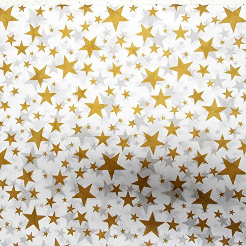 Gold Metallic Tissue Paper (50 Sheets, Larger Gold Stars Value Paper)