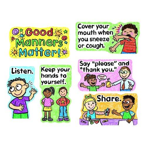 - Carson Dellosa Good Manners Matter Bulletin Board Set (110109)