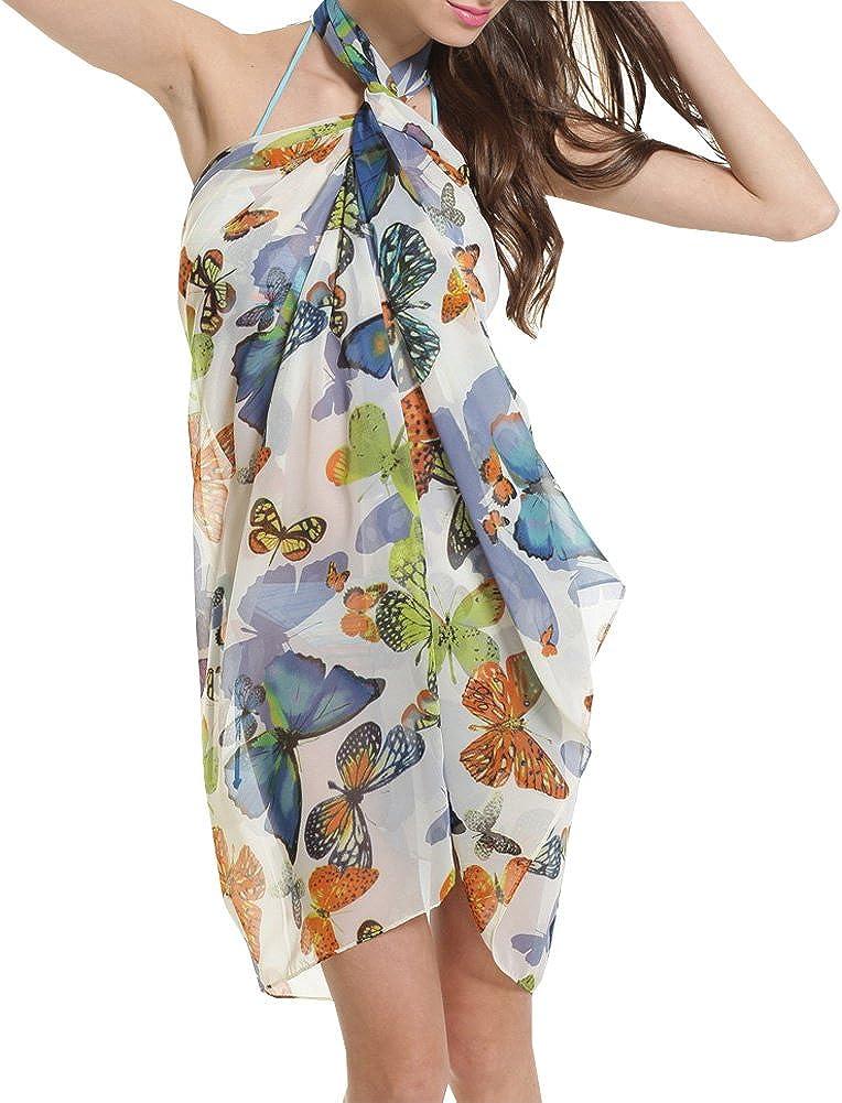Sexy para mujer diseño de mariposas pareo cubrir pareo envoltura ...