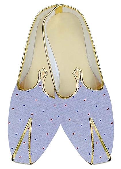 Amazon.com: INMONARCH Mens Lavender Wedding Shoes Polka Dots MJ16095 ...