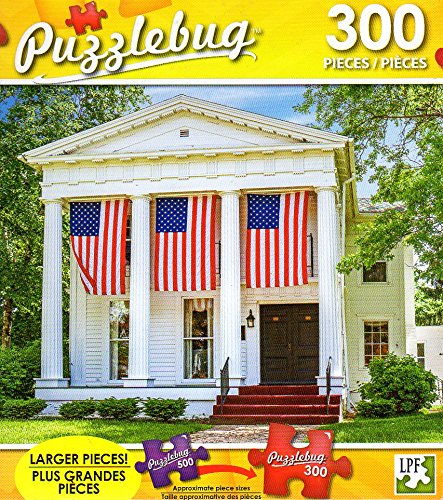 Patriotic Stately Home - 300 Piece Jigsaw Puzzle Puzzlebug