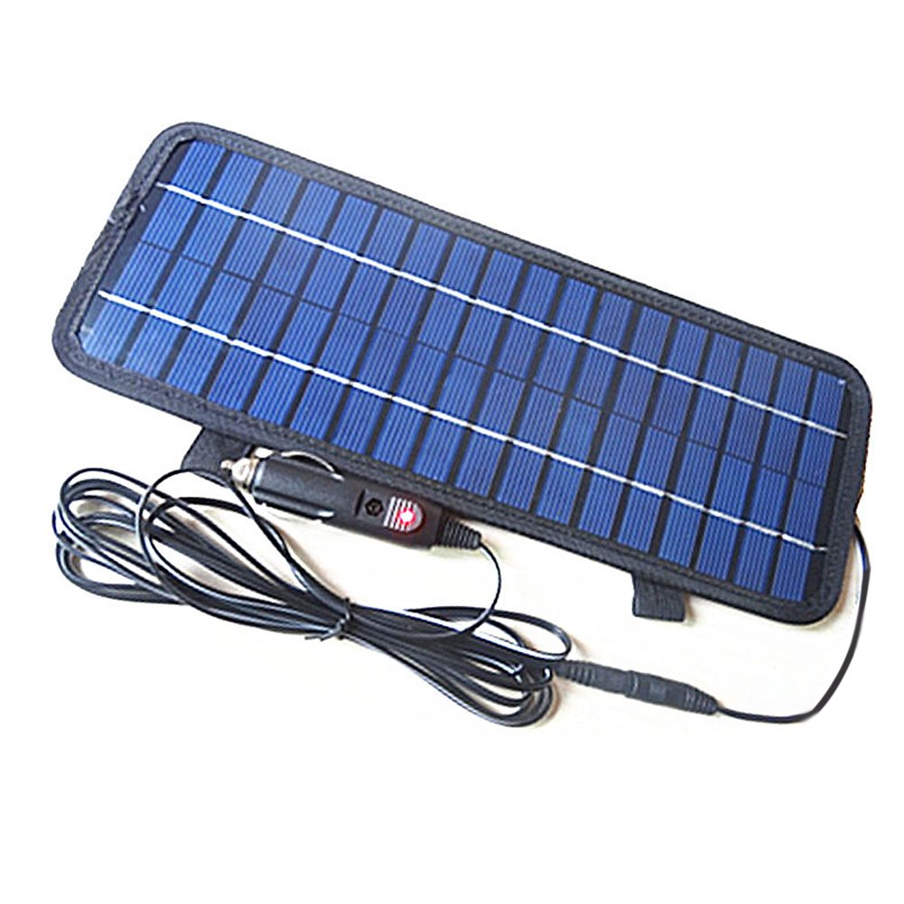 Alloet 12V/4.5W Smart Power Polycrystalline Silicon Solar Panel Battery Charger for Car Boat Motorcycle