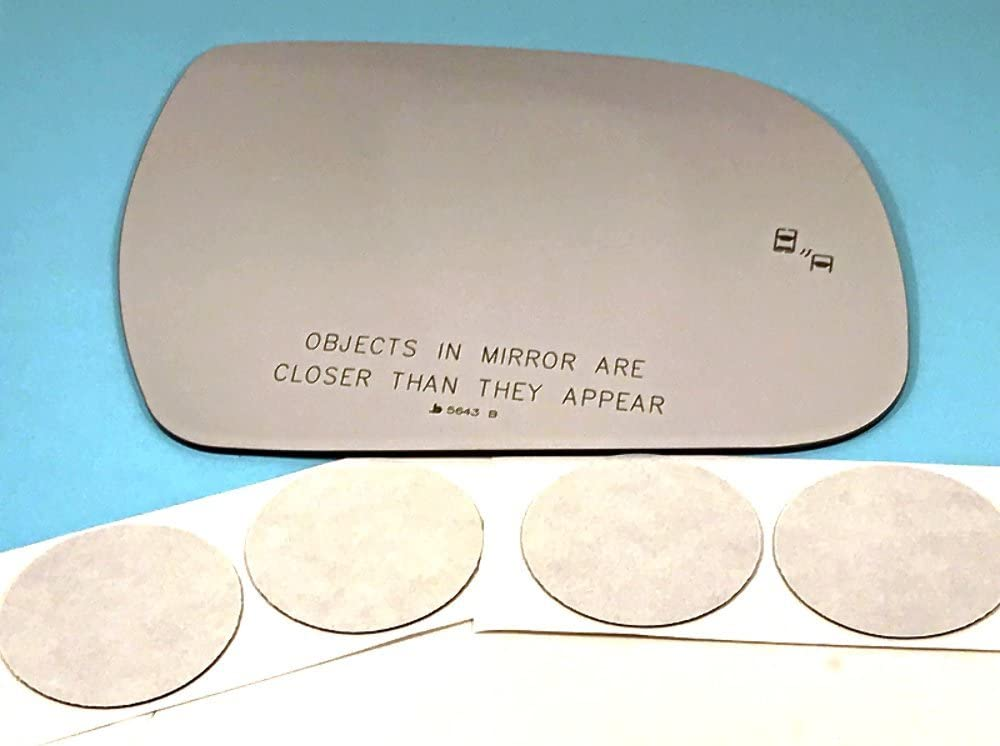 Fits 13-17 Sienna Right Mirror Glass w//Blind Spot Detect models w//*Auto Dim only