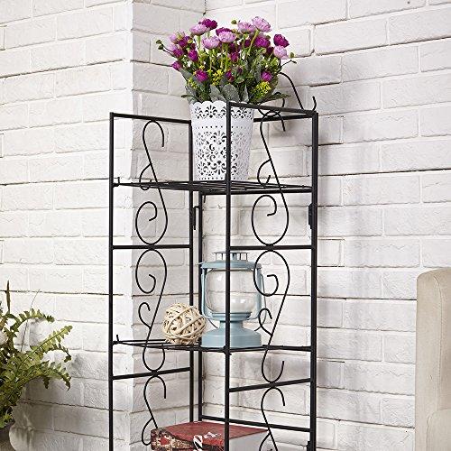 indoor shelf amagabeli 14x11x43 inches lxwxh iron 3 tier wire shelf shelving