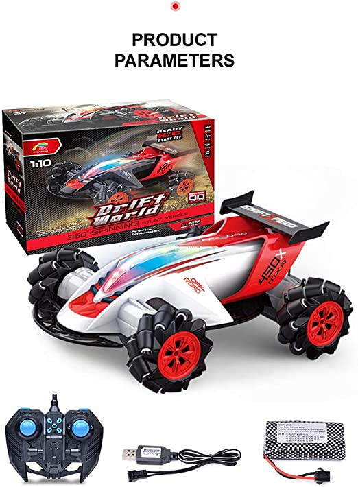 Goolsky- Z108 2.4G 1/10 360 Degree Spinning Stunt RC Car 20 km / h ...