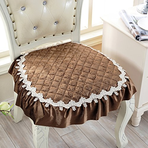 Pillow Impressions Foam Memory (XJ&DD European Dining Chair Cushion,Lace Chair pad,Office seat Cushion, Non-Slip Computer Chair seat pad-P 50x50cm(20x20inch))