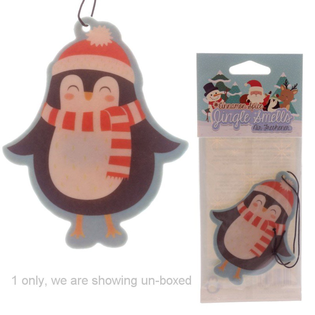 Penguin Christmas Hanging Air Freshener Cinnamon Apple Jingle Smells Puckator
