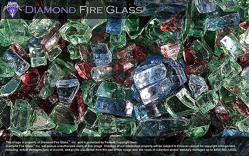 Northern Lights - Premixed Fireplace Glass - 25 LBS. by Diamond Fire Glass