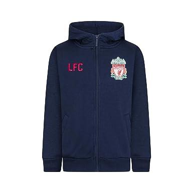 baa81dfe9 Amazon.com  Liverpool Football Club Official Soccer Gift Boys Fleece Zip  Hoody Navy Blue  Clothing