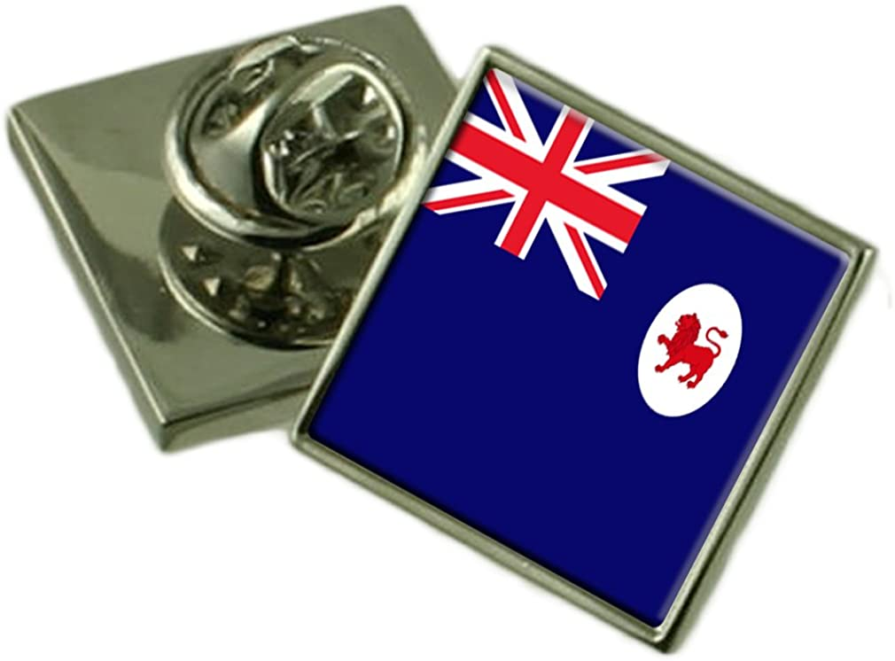 Tasmania Flag Lapel Pin Badge Solid Silver 925