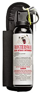 3. Frontiersman Bear Spray with Chest or Belt Holster– Easy Access, Max Strength – 7.9 oz - Impressive 30-Foot Range