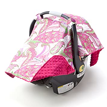 Car Seat Canopy Pink With Hot