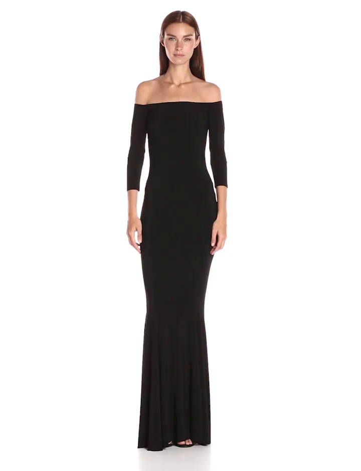 ace0698883 Amazon.com  Norma Kamali Women s Off Shoulder Fishtail Gown  Clothing