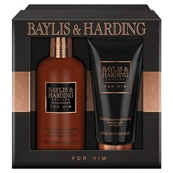 Efterstræbte Baylis & Harding Grooming Duo Gift Set, Black Pepper and Ginseng HA-43