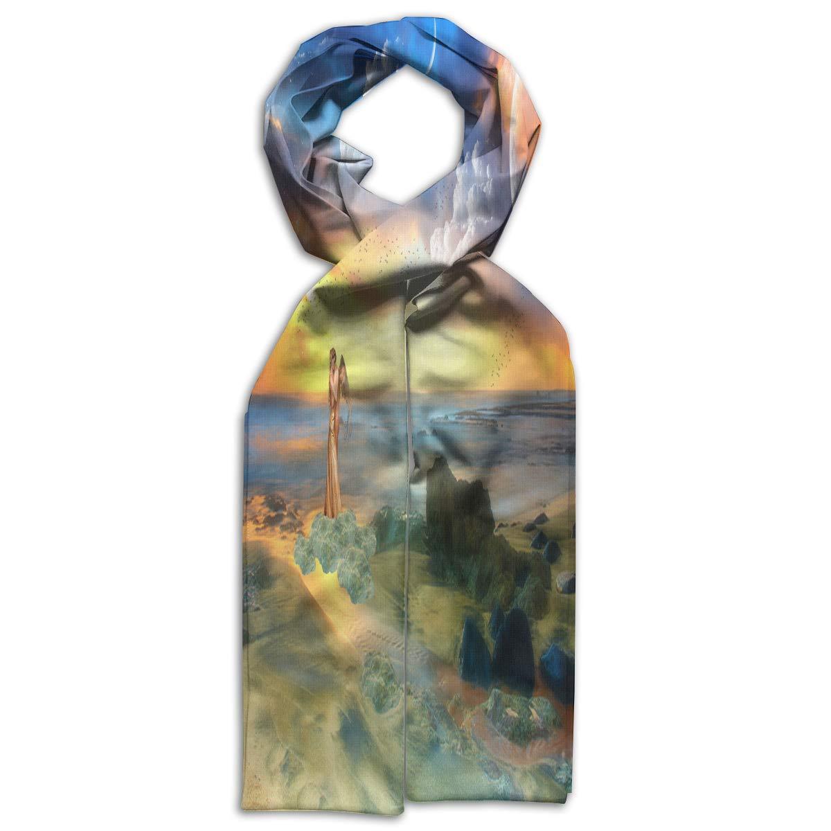 Kids Scarf Fantasy Planet Desert Muffler Winter Warm Shawl Wrap For Children