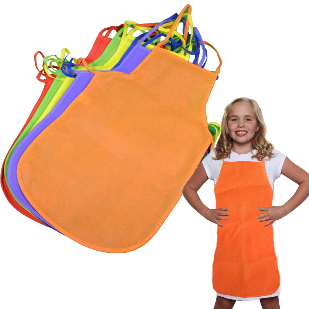 Toy Cubby Colorful Artist Painting Aprons for Kids - 12 Pieces