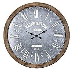 imax 16302 Grant Oversized Wall Clock, Beige