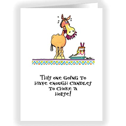 Amazon Choke A Horse Funny Card Single Birthday Cards 5x7