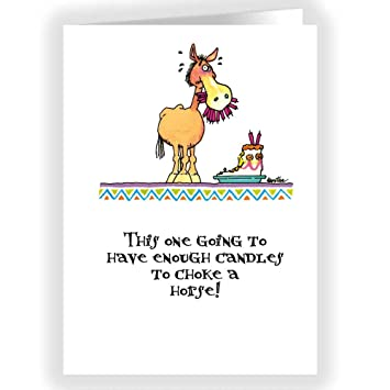 Amazon choke a horse funny card single birthday cards 5x7 amazon choke a horse funny card single birthday cards 5x7 birthday card kitchen dining bookmarktalkfo Image collections