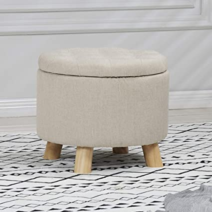 Astonishing Amazon Com Visual Taste Round Storage Ottoman European Gmtry Best Dining Table And Chair Ideas Images Gmtryco