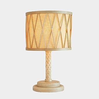 Muenm Lampe de chevet Table avec Flaxen Tissu Minimaliste en