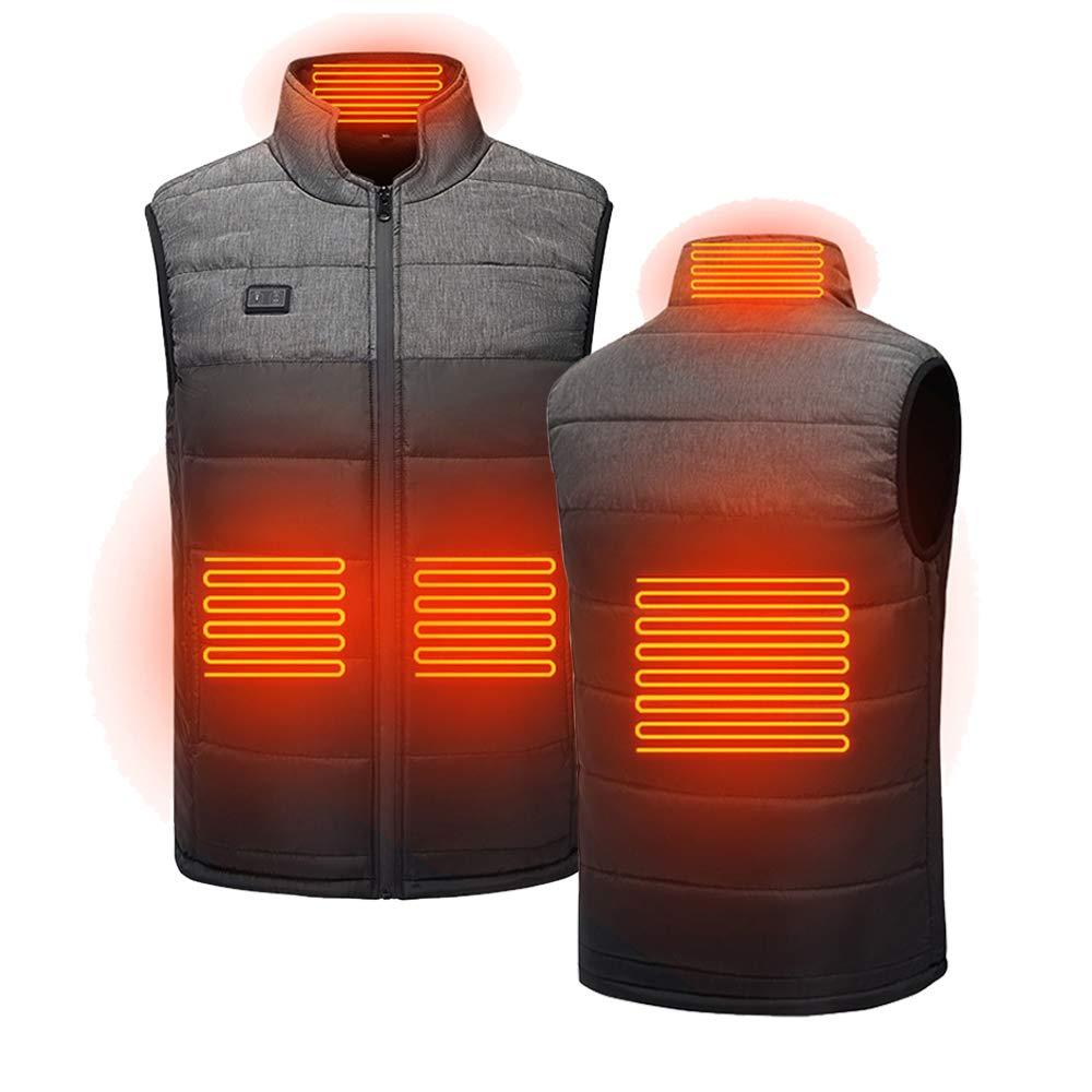TYUI Beheizte Weste für Herren Damen, Outdoor Reiten Skifahren Angeln USB Lade Beheizter Kleidung Warmer Down Vest Beheizte Kleidung Für Outdoor Motorsport Wanderung