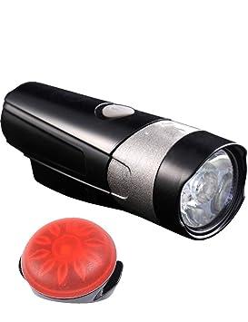 SMX Juego de Luces de Bicicleta Faros LED súper Brillantes, luz ...
