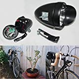 Retro Bicycle Accessory Bike LED Light Vintage Headlight (Black)