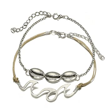 Amazon com: Anklets for Women,2Pcs Fashion Jewelry Gift