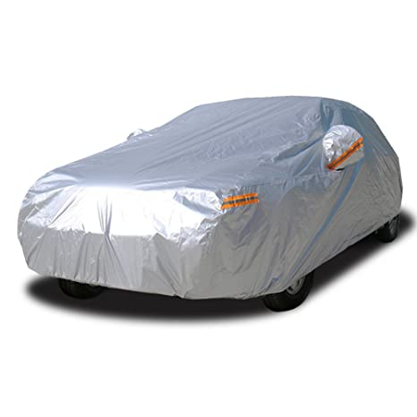 Exterior Accessories Sedan Car Cover-SUV Full Car Covers-Waterproof Protection Rain Dust Sun UV Scratch Resistant-All Weather Protection with Zipper Hyundai Automobile Indoor Outdoor Fit SUV Wagon