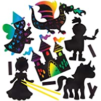Fairy Tale Scratch Art Magnets (Pack of 10)