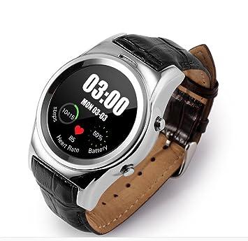 Sendream Ronda Smartwatch Soporte SIM Tarjeta SD Bluetooth WAP GPRS SMS Monitor de frecuencia cardíaca/monitorización de sueño Compatible con iOS y ...