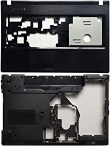 New Laptop Replacement Parts Fit Lenovo G570 G575 (Palmrest Cover Case+Bottom Base Cover Case with HDMI)