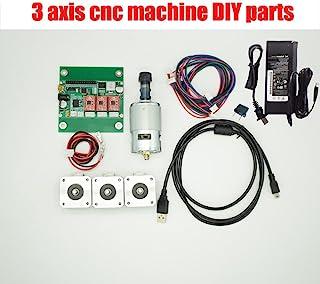 Nadalan Diy Drei-Achsen-Cnc-Maschinenteile, Laser-Steuerung Recorder Board, GRBL Steuerplatine + 3-Schritt-Motor + ER11 Spindel + 24V-Adapter