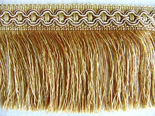 Brush Cut Fringe (Amber/Gold by The Yard ~ Beautiful 3 1/2