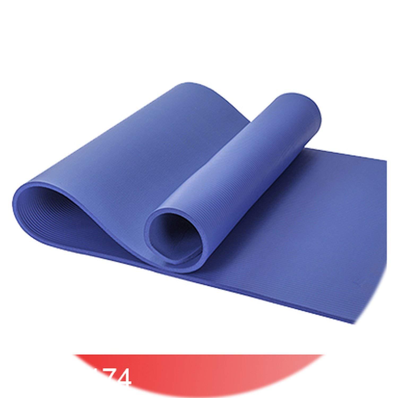blueee One Size Agnite 4174 Professional SlipProof NBR Yoga mat 10mm for Fitness Cushion Quality Gymnastics Exercise Matress Sport Carpet Strap