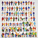 100pcs 1:87 HO Scale Hand Painted Model Train Park Street Passenger People Figure