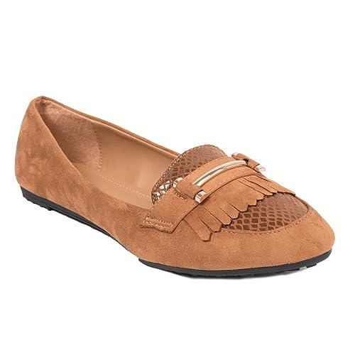 Primtex - Mocasines Mujer, Beige (marrón claro), Fr 42: Amazon.es: Zapatos y complementos