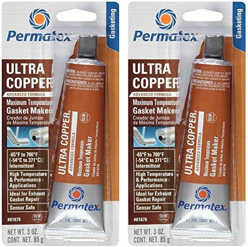 Seal Copper - Permatex 81878 3 Oz Ultra Copper RTV Silicone Gasket Maker